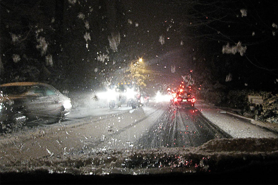 Driving in the Seattle Snow