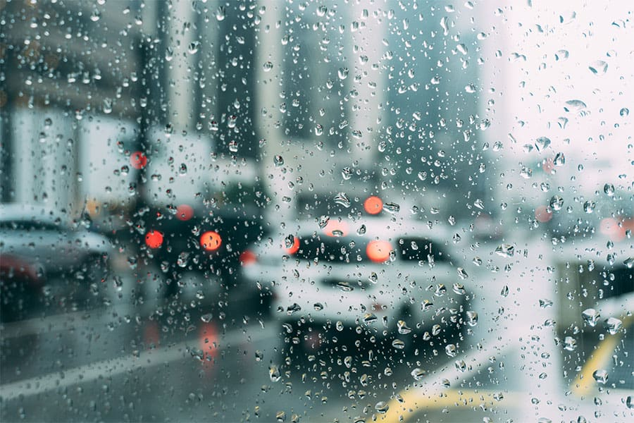 Driving in the rain in Seattle